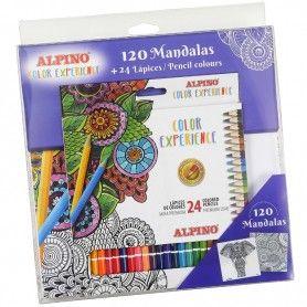 SET 120 MANDALAS+24 LAPICES COLOR EXPERIENCE