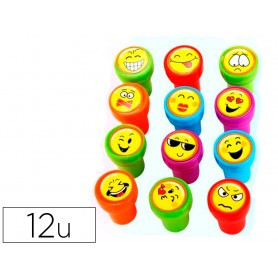 Sello artline emoticono uso escolar expositor de 12 unidades surtidas