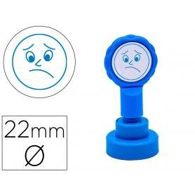 Sello artline emoticono disgusto color azul 22 mm diametro