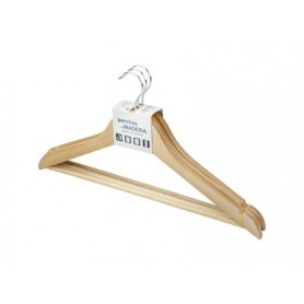 Percha rozenbal madera natural barnizada pack de 3 unidades