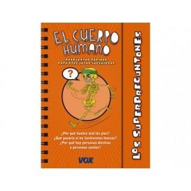 Libro vox superpreguntones el cuerpo humano encuadernacion doble espiral 96 paginas 210x165 mm