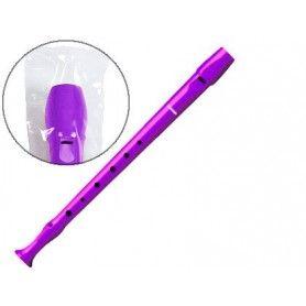 Flauta hohner 9508 color violeta funda verde y transparente