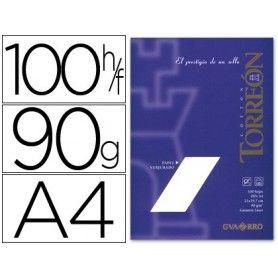 Papel torreon blanco crema a4 90 gr paquete de 100