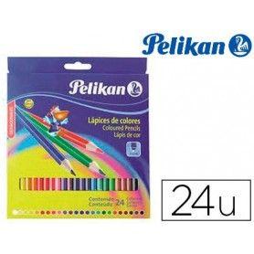 Lapices de colores pelikan hexagonales 24 colores caja de carton