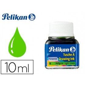 Tinta china pelikan verde claro n.6 frasco 10 ml