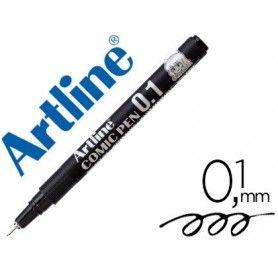Rotulador artline calibrado micrometrico negro comic pen ek-281 punta poliacetal 0,1 mm resistente al agua
