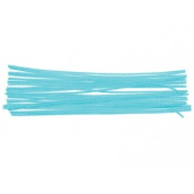 Varillas de chenilles unicolor azul 50 cm x 0,6 mm blister de 15 unidades