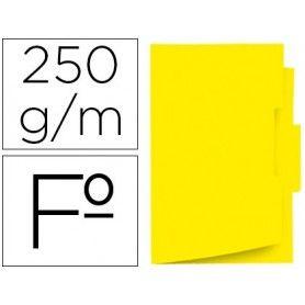 Subcarpeta cartulina gio folio pestaña central 250 g/m2 amarillo
