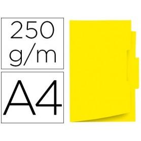 Subcarpeta cartulina gio din a4 pestaña central 250 g/m2 amarillo