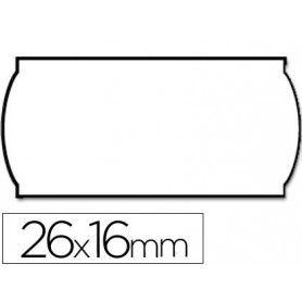 Etiquetas meto onduladas 26 x 16 mm blanca(adh.2) rollo de 1200 etiquetas troqueladas (p+t) para etiquetadora tovel