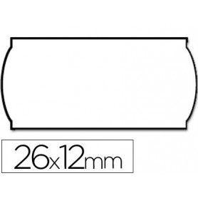 Etiquetas meto onduladas 26 x 12 mm blanca adh.n2. rollo de 1500 etiquetas troqueladas (p+t) para etiquetadora tovel