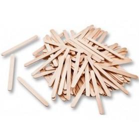 Palillos de madera color naturaln 75x7 mm bolsas de 150 unidades