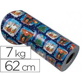 Papel fantasia verjurado 7002-62 navidad bobina 62 cm 7 kg