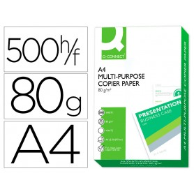 PAPEL BLANCO PAQUETE 500 HOJAS A4 80GR Q-CONNECT