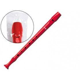 Flauta hohner 9508 color roja funda verde y transparente