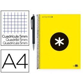 Cuaderno espiral liderpapel a4 micro antartik tapa forrada 120 h 100g cuadro 5 mm color amarillo promo caran d ache