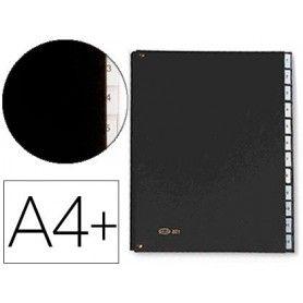 Carpeta clasificadora fuelle pardo carton compacto folio 12 departamentos visor doble personalizables color negro