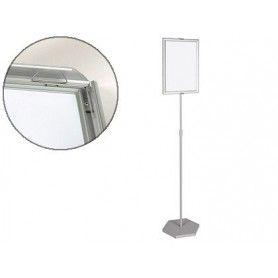 Expositor de pie bi-office para formatos a3 ajustable en altura 102 cm