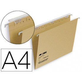 Carpeta colgante fade tiki din a4 visor superior 290 mm efecto lupa kraft eco 230 g/m lomo v