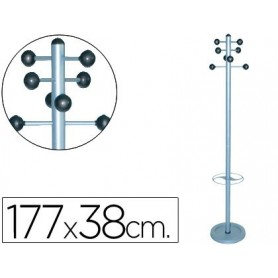 Perchero metalico 626 con paraguero -pie 8 colgadores 1,77x38 cm