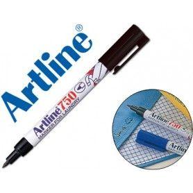Rotulador artline marcador permanente ek-750 negro punta redonda 0,7 mm en blister brico para lavanderia