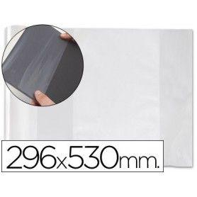 Forralibro pvc con solapa ajustable adhesivo 290x530 mm