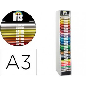 Expositor guarro vacio 34 estantes para cartulina a3 185 grs medidas 60x40x200 cm