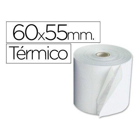 Rollo sumadora termico 60 mm ancho x 55 mm diametro sin bisfenol a