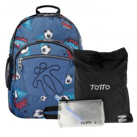 Mochila escolar - Crayoles -Totto MA04ECO029-2010N-7F7-