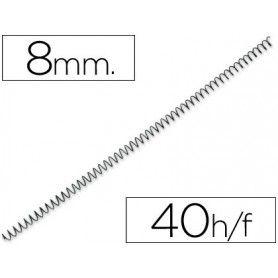 Espiral metalico yosan negro paso 64 5:1 8 mm calibre 1,00 mm