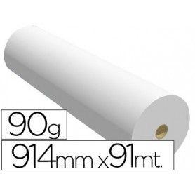 Papel reprografia para plotter 914mmx91mt 90gr impresion ink-jet