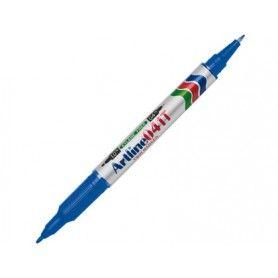 Rotulador artline marcador permanente ek-041t azul -doble punta 0.4 y 1.0 mm