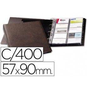 Tarjetero duraclip visifix marron 20 fundas para 400 tarjetas tamaño din a4 incluye 12 separadores