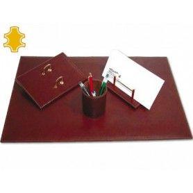 Escribania de sobremesa artesania de piel juego de 4 piezas medidas 40x60x0,6 cm.