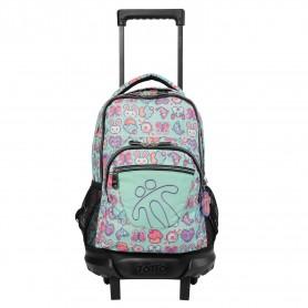 Mochila escolar pequeña ruedas - Resma -Totto MA03ECO005-2010V-0QI-
