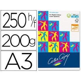 Papel fotocopiadora color copy din a3 200 gramos paquete de 250 hojas