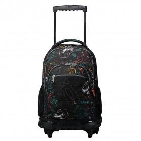 Mochila escolar con ruedas - Renglones -Totto MA03ECO006-2020P-2CH-