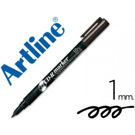 Rotulador artline para cd punta de fibra permanente ek-884 negro -punta redonda 1.0 mm
