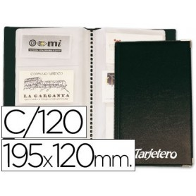 Tarjetero para tarjetas visita color negro para 120 unidades tamaño 195 x 120 mm