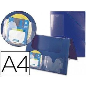 Carpeta liderpapel portadocumentos 36902 polipropileno din a4 azul lomo 50 mm