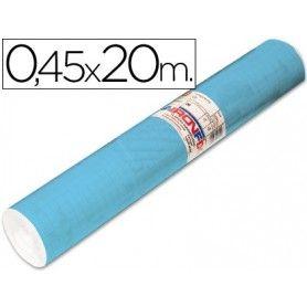 Rollo adhesivo aironfix unicolor azul mate claro 67013-rollo de 20 mt