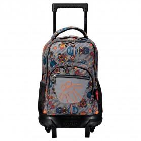 Mochila escolar pequeña ruedas - Resma -Totto MA03ECO005-1820V-8GP-