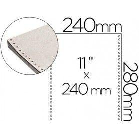 Papel continuo 240x11 blanco -3 hojas -caja de 1000 juegos