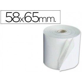 Rollo sumadora electro 58 mm ancho x 65 mm diametro sin bisfenol a