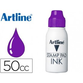 Tinta tampon artline violeta frasco de 50 cc