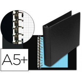Carpeta multifin alfa 3002-g 11 anillas 40 mm plastico cuarto
