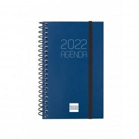 AGENDA ESPIRAL OPAQUE E10 SEMANA VISTA VERTICAL 2022 AZUL