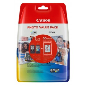 PACK CARTUCHOS TINTA CANON PG-540 CL-541 XL + 50 HOJAS 10*15