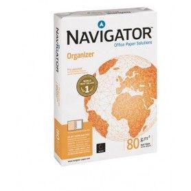 Papel fotocopiadora navigator din a4 80 gramos -4 taladros papel multiuso ink-jet y laserpaquete de 500 hojas