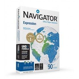 Papel fotocopiadora navigator din a3 90 gramos papel multiuso ink-jet y laserpaquete de 500 hojas